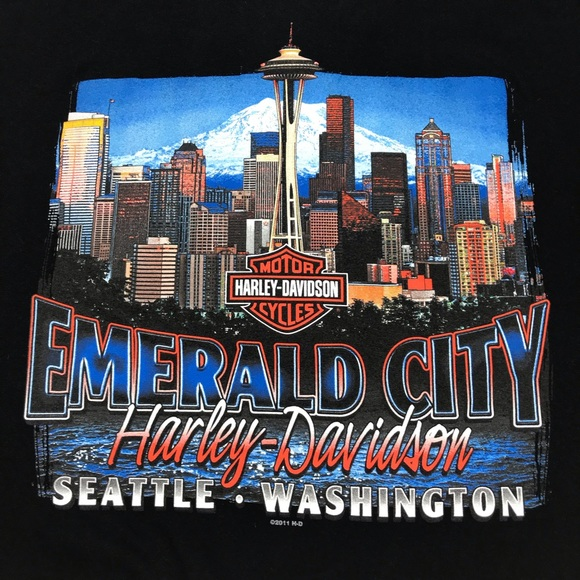 Harley Davidson Seattle >> Harley Davidson Emerald City Seattle Wa T Shirt